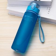 Generic 400/560 Ml  Drop Resistance Water Bottle Leakproof Infuser Space Cup Portable Blue 400ml