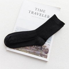 1 pair High Quality Men's Business Casual Cotton Socks For Male Brand Autumn Winter Men's socks black One Size one size