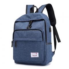 Backpack USB Charging Men's Large Travel Bag Youth Backpack handbag Tablet PC bag Blue One size