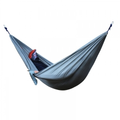 Portable double parachute cloth hammock 270*140cm can withstand 300KG weight product information Dark grey One Size
