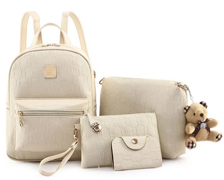 Fashion handbags Women's shoulder bags Four sets of shoulder handbags White one size