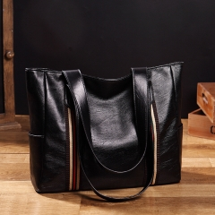 new female bag   single shoulder bag  handbag   big bag black one size