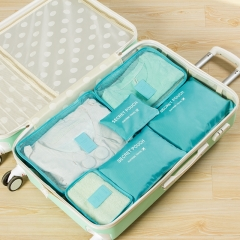 Outdoor Travel  Clothing Baggage Travel Bags Storage Consolidation Bag  6Pcs/Set Sky Blue One Size