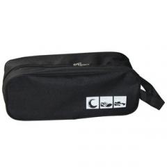 Portable Shoes Pouch Travel Organizer zipper closure waterproof Shoes Storage Bag Black One Size