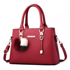 Fashion  handbag  Shoulder Messenger Bags  PU Handbags red wine As Picture