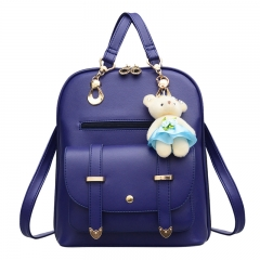 Fashion Travel Bag   Backpack blue as picture