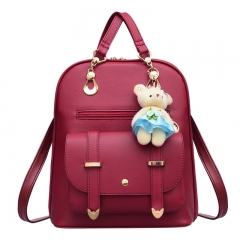 Fashion Travel Bag   Backpack red as picture