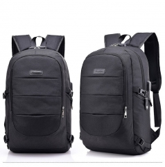 Fashion 17-Inch Bag Business Large-capacity Laptop Backpack,/USB Charging Port & Headphone interface black one size