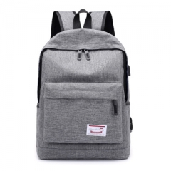 Backpack USB  Charging Men's Travel Bag Backpack handbag Tablet PC bag  School Bag grey one size