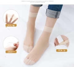10 Pairs High Quality Ultrathin Ladies Transparent Invisible Crystal  Sexy Stockings / Women's Socks Light brown One size