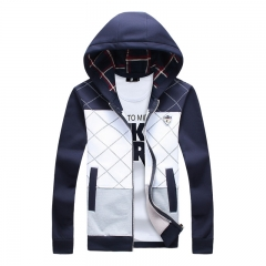 Brand Fashion  Coat Men  Casual   Men Clothing Jacket Men blue m