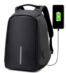 Fashion 15.6 inches Business  Waterproof Laptop Backpack/ Anti Theft /USB black one size