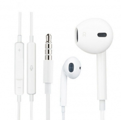 1set iPhone and android universal earphone with line control mic white
