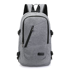 Backpack USB  Charging Men's Travel Bag Backpack handbag Tablet PC bag  School Bag light gray one size
