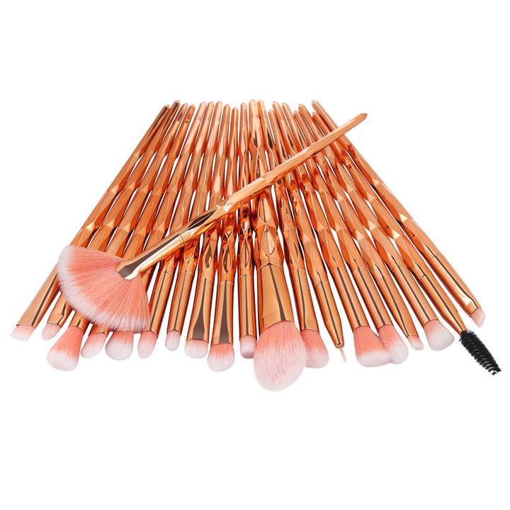 20Pcs  Makeup Tool/ Brush Powder Brush/Eye Shadow Brush/Eyebrow Brush/Lip Brush Makeup rose gold