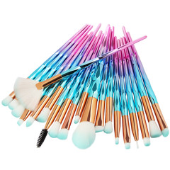 20Pcs  Makeup Tool/ Brush Powder Brush/Eye Shadow Brush/Eyebrow Brush/Lip Brush Makeup blue + pink