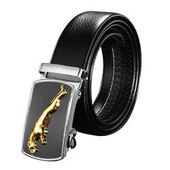 Fashion Men Leather Belt  PU Leather Black 120CM(47inch)