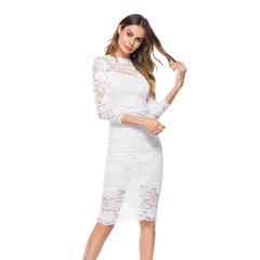 New Women Fashion Sexy Ladies Lace Dresses s white