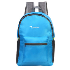 Folding Portable Backpack  Suitable for Home Storage and Outdoor Travel blue one size