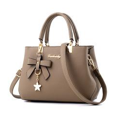 New Fashion HandBag Shoulder Messenger Bags / PU Leather Handbags khaki one size