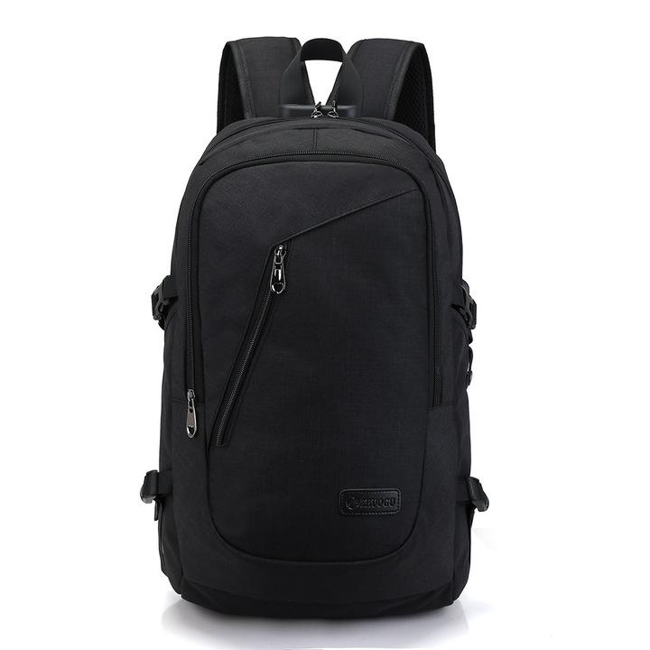 Backpack USB Charging Men's Travel Bag Backpack handbag Tablet PC bag School Bag dark black one size