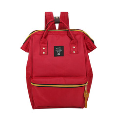 Stylish color dual-purpose canvas travel backpack red one size