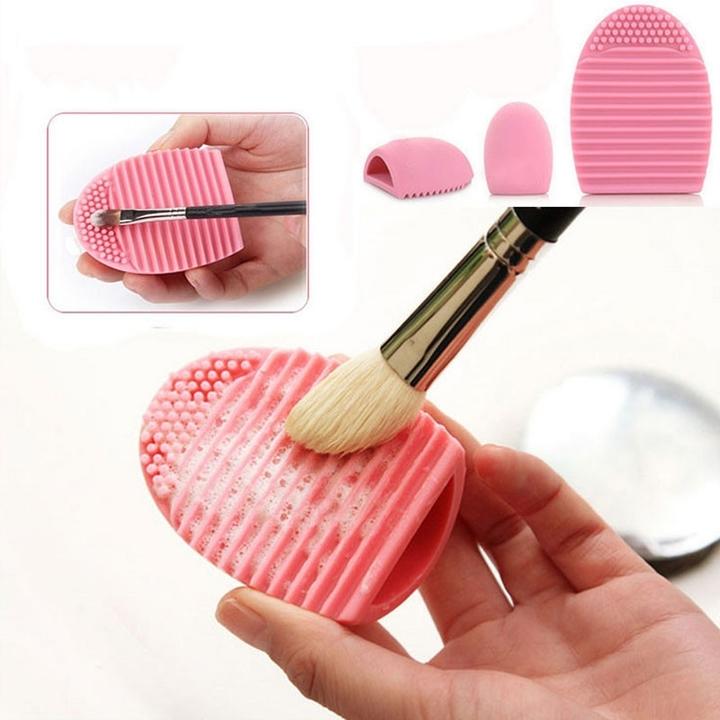 Makeup Brushes Cleaning Washing Tool  Brushegg 1Pcs pink