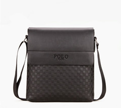 Fashion Men's bag / Shoulder Bag / Messenger Bag /  PU Leather Bag black One size