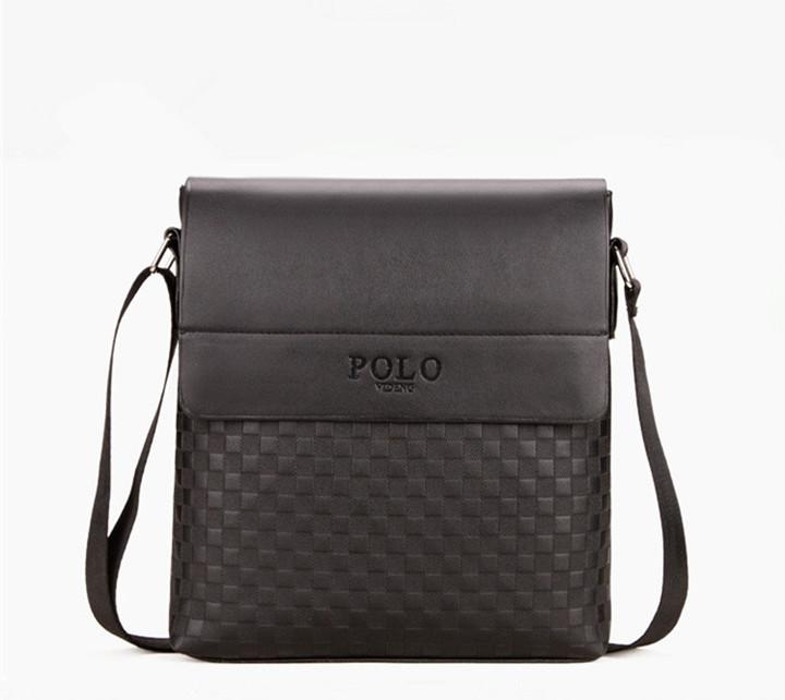Fashion Men's bag / Shoulder Bag / Messenger Bag /  PU Leather Bag black One size