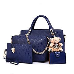 Handbags Fashion Classic Handbags / PU Leather Bags 4 Pcs/ set blue one size