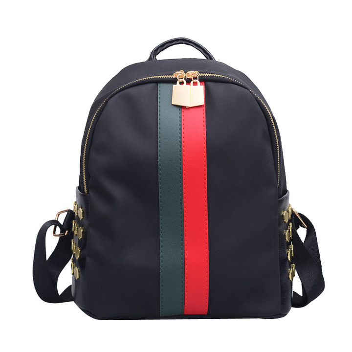 Fashion Rivets Backpack  / Travel Bag  / Handbags black one size