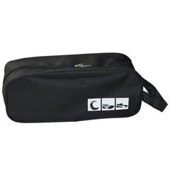 Portable Shoes Pouch /Travel Organizer /Zipper Closure Waterproof Shoes  Bag Black one size
