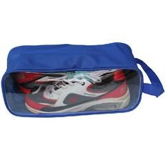 Portable Shoes Pouch /Travel Organizer /Zipper Closure Waterproof Shoes  Bag Blue one size