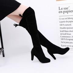 1 Pair Fashion High Heel Long Boots / Women's shoes/ Boots black 38