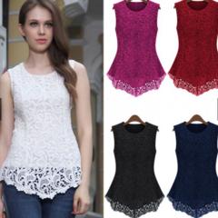 Women's Lace Tops /Short Sleeve Shirt /Women's Tops black m