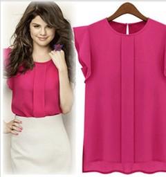 Women's Tops / Tops / Blouse/ Chiffon Shirt  / Sleeveless  Shirt red s