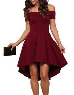New Fashion Women Polyester  High waist Short sleeve Sexy Dress/ Dress s red wine