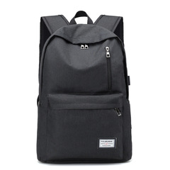 Backpack/ USB Charging  Laptop Backpacks  /Travel Backpack /School Bag black one size