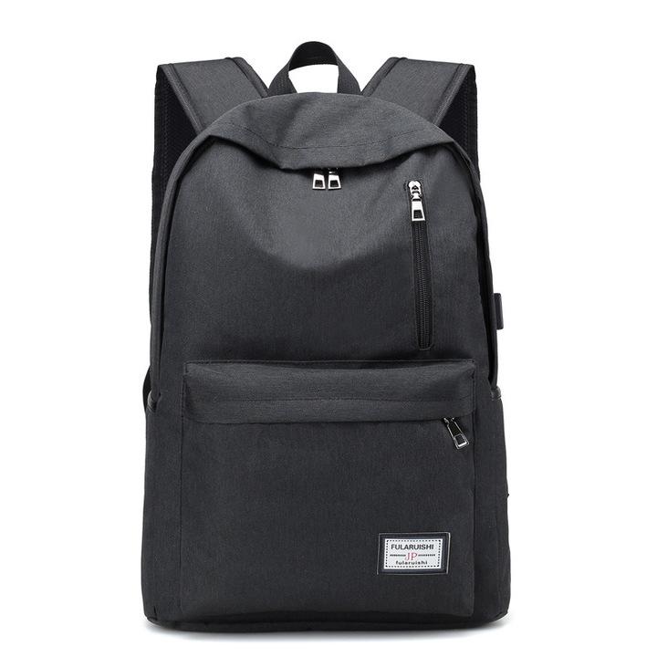 Backpack/ USB Charging  Laptop Backpacks  /Travel Backpack /School Bag black one size