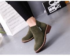 Women Ankle Boots Short Martin Boots/  Heels Boots green 39