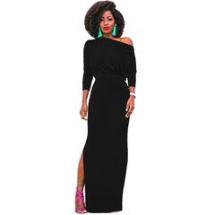 European and American Fashion Women's Dresses/ Sexy Dress s black