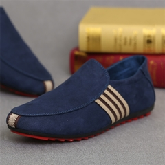 Fashion High Quality Men Casual Shoes Loafers /Rubber Flat Sole /Men's Shoes/Loafers & Slip-Ons blue 39