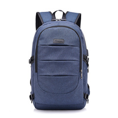 Backpack USB Charging Men's Large Travel Bag Youth Backpack handbag Tablet PC bag blue One size