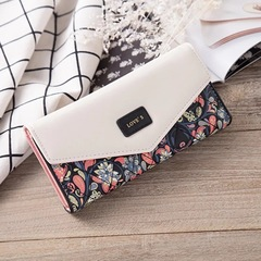 Fashion Women's Leather Wallet /Long Paragraph  Wallets /Wallet/Clutch black one size