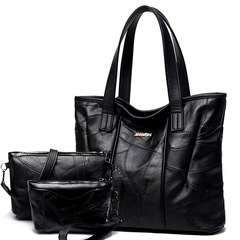 Europe and America Fashion Leather Handbag / Shoulder Bag /Women's Bags black as picture as picture Leather