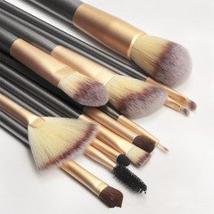 12 Piece Professional Makeup Brushes Set Soft Synthetic Make Up Brush Eyeshadow Eyeliner Lip Brush as pictuer