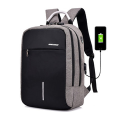 Fashion 15-Inch  Business  Laptop Backpack /USB Charging Port & Headphone Interface/ Anti-theft Bags grey one size
