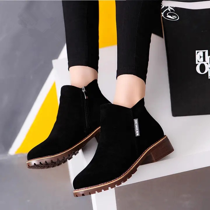 Women Ankle Boots Short Martin Boots/  Heels Boots black 40