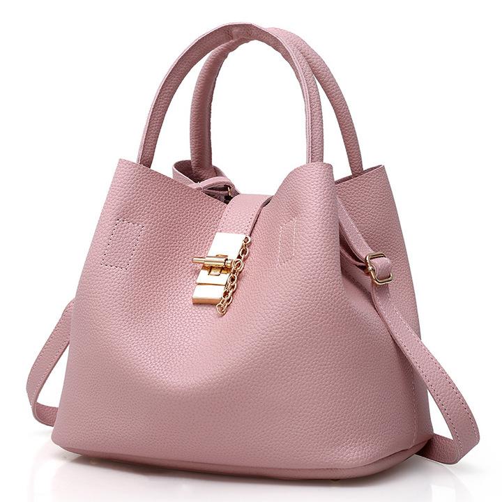 Women Bag    Handbag  / Ladies PU Leather Crossbody Bag pink One size