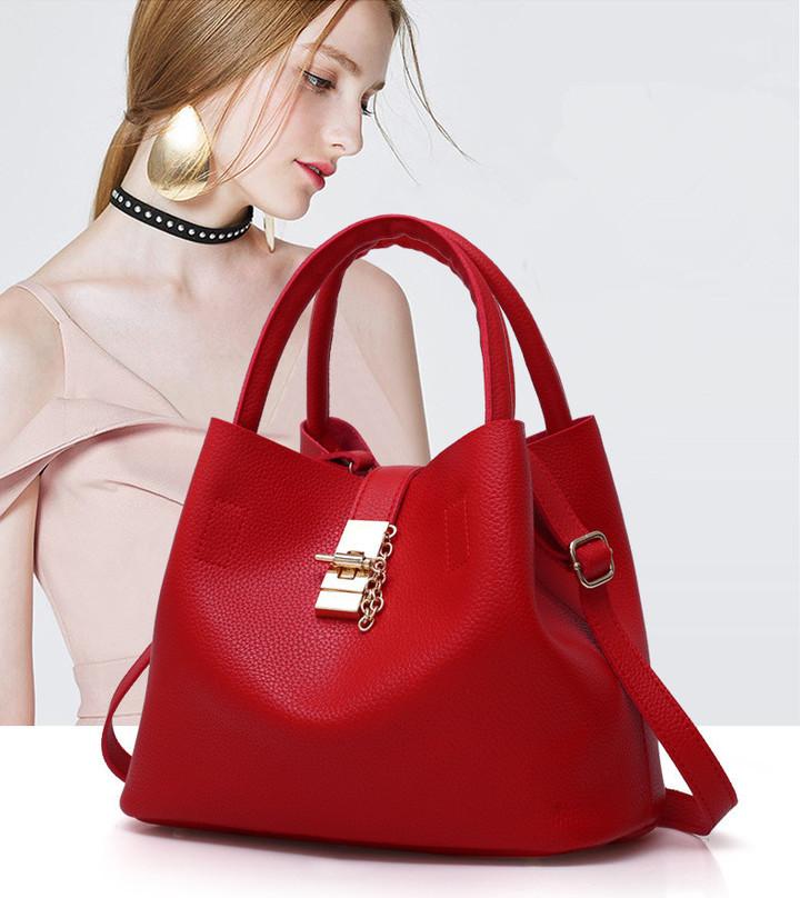 Women Bag    Handbag  / Ladies PU Leather Crossbody Bag red One size